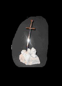 Rocher Excalibur avec épée