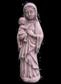 Vierge Marie à l'enfant recueillie