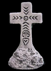 Croix sur rocher