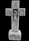Croix à la vierge et support